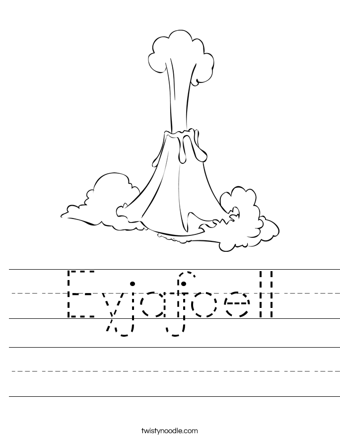 Eyjafjoell Worksheet