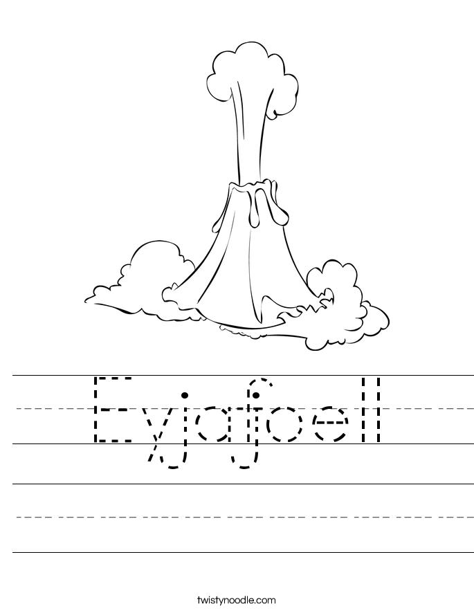 Eyjafjoell Worksheet