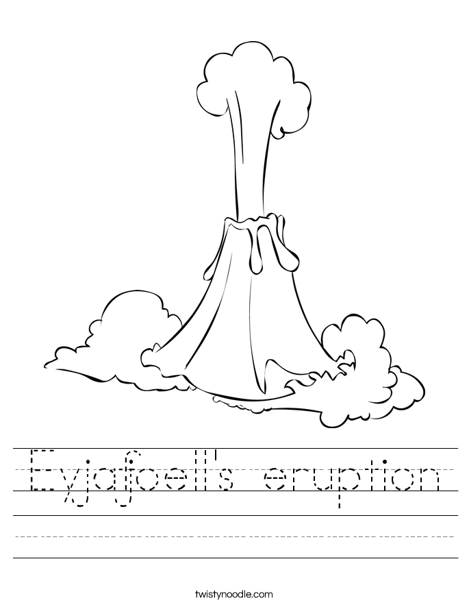 Eyjafjoell's eruption Worksheet