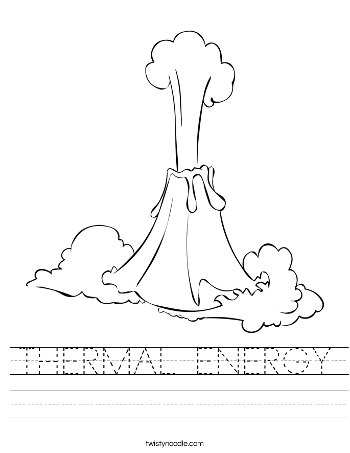 THERMAL ENERGY Worksheet