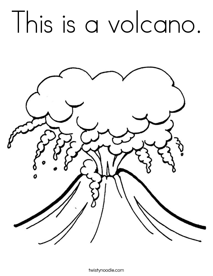 This is a volcano. Coloring Page