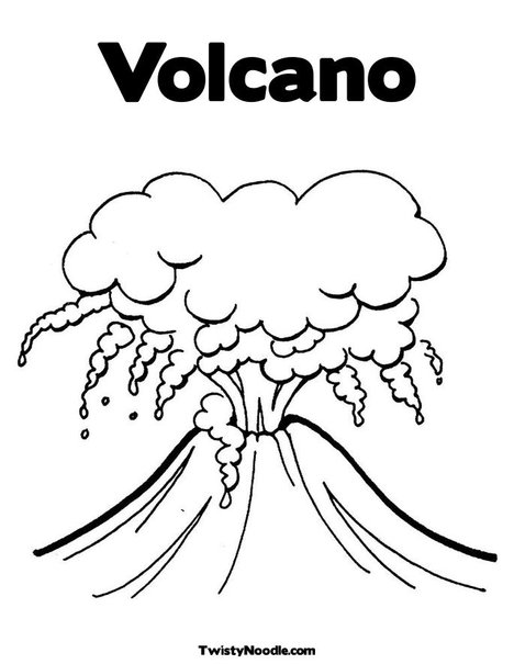 v is For Volcano Coloring Page Coloring Pages of Erupting