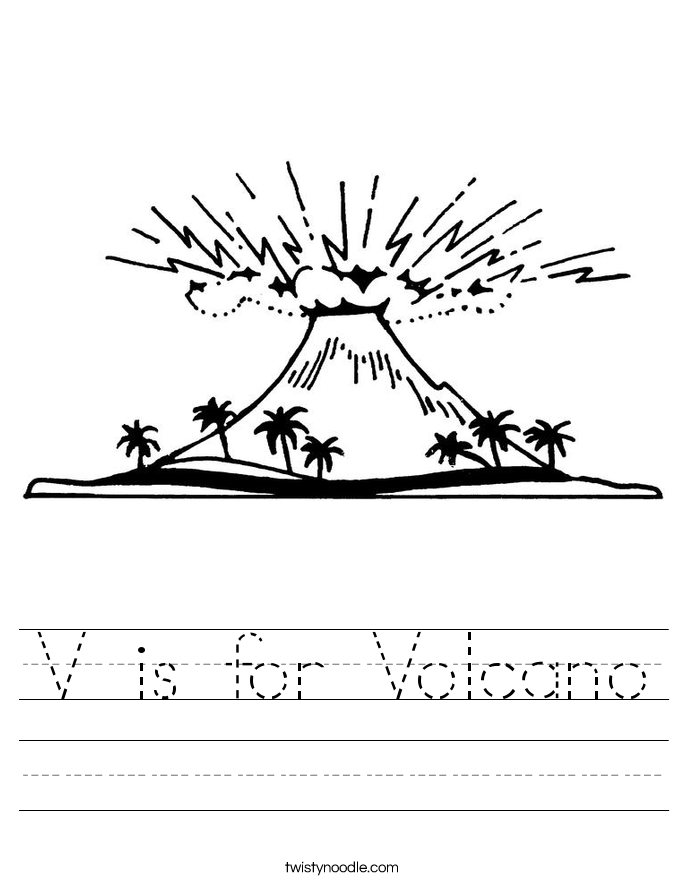 V is for Volcano Worksheet