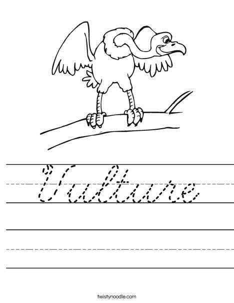Vulture Worksheet