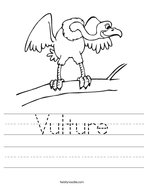 Vulture Handwriting Sheet