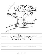 Vulture Handwriting Sheet