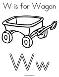 W is for WagonColoring Page