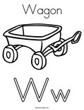 WagonColoring Page