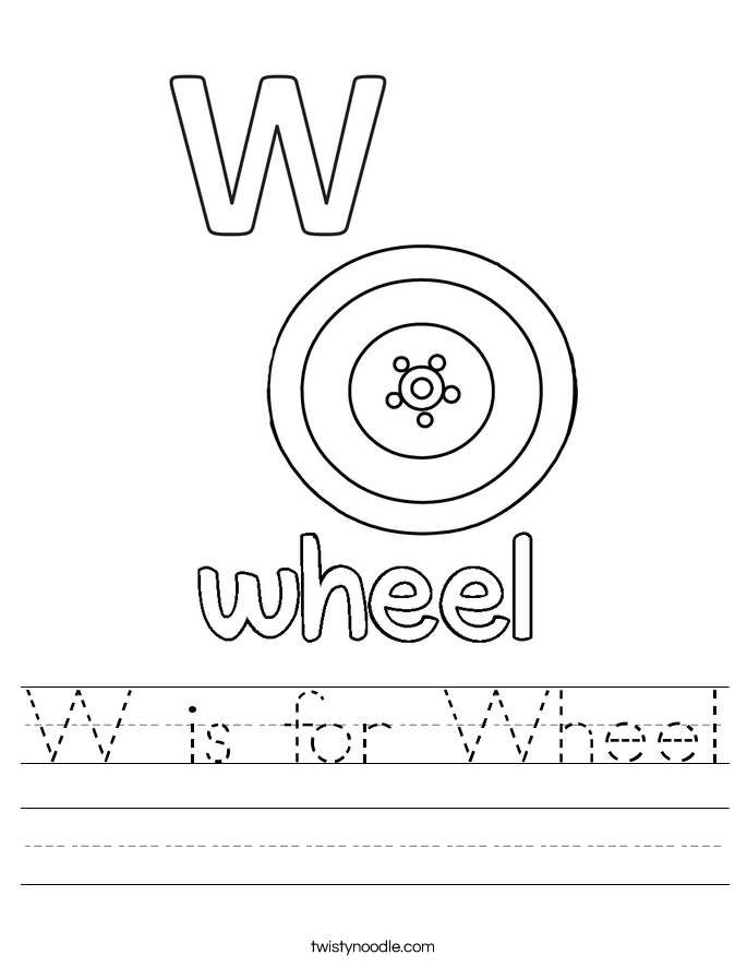 W is for Wheel Worksheet