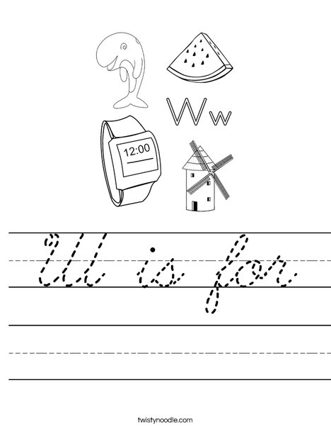 W is for Worksheet