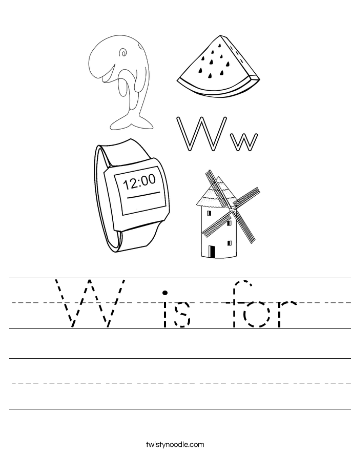 W is for Worksheet Twisty Noodle – W Worksheets