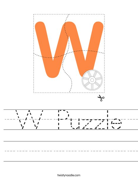 W Puzzle Worksheet