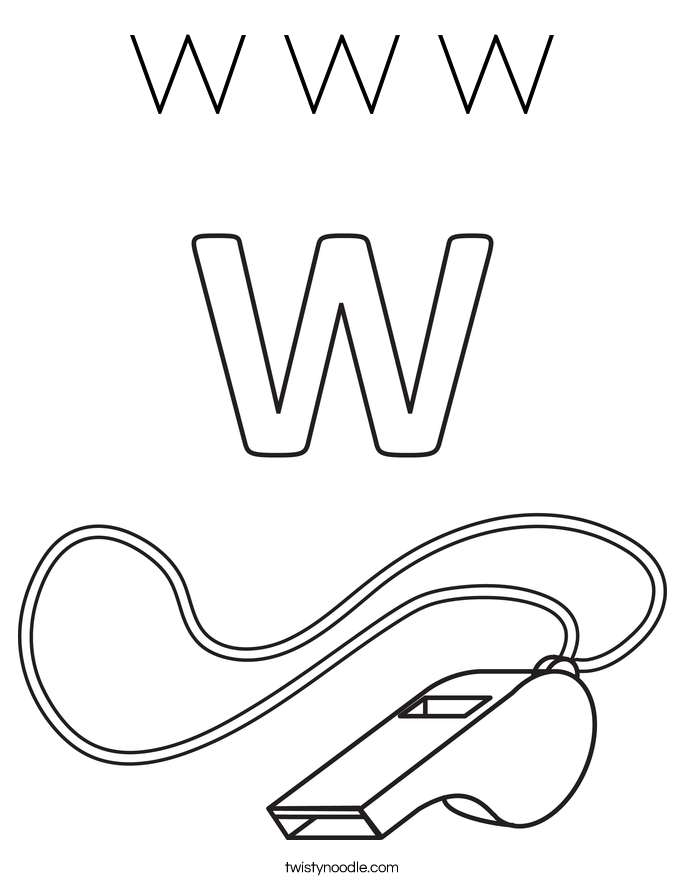 W W W Coloring Page