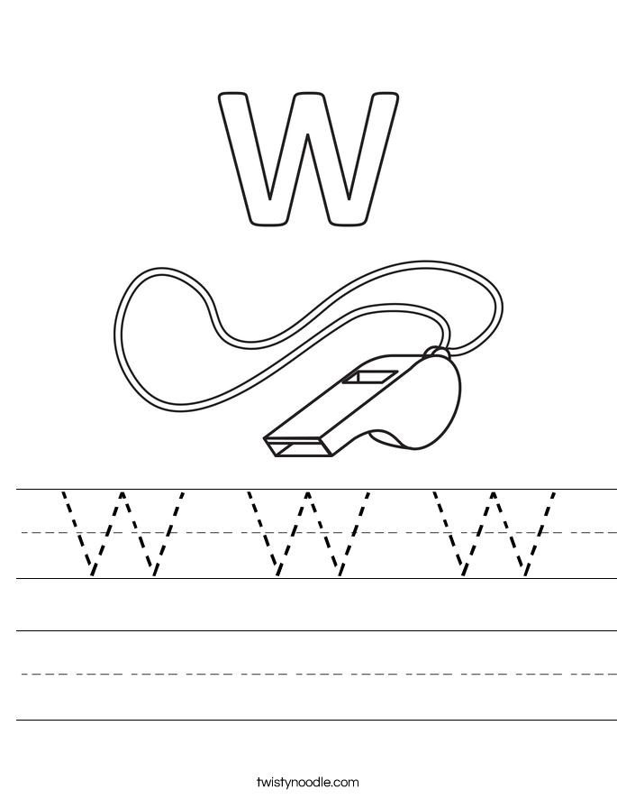 W W W Worksheet