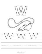 W W W Handwriting Sheet