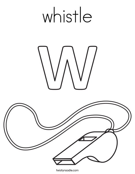 W Whistle Coloring Page