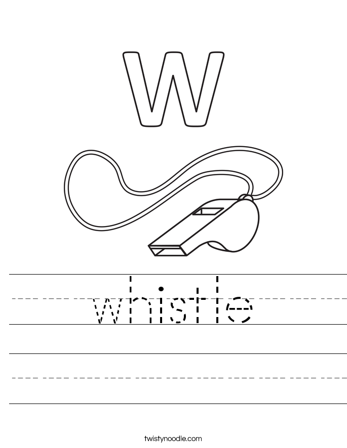 Whistle Worksheet on letter i worksheets
