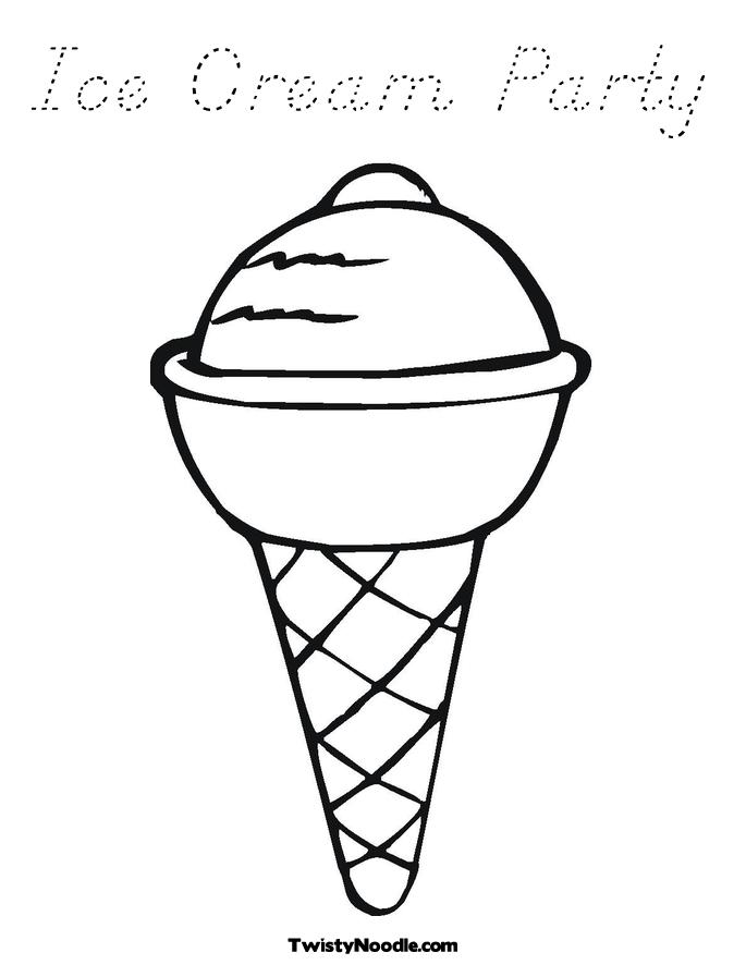 Free Coloring Pages Of Cute Icecream