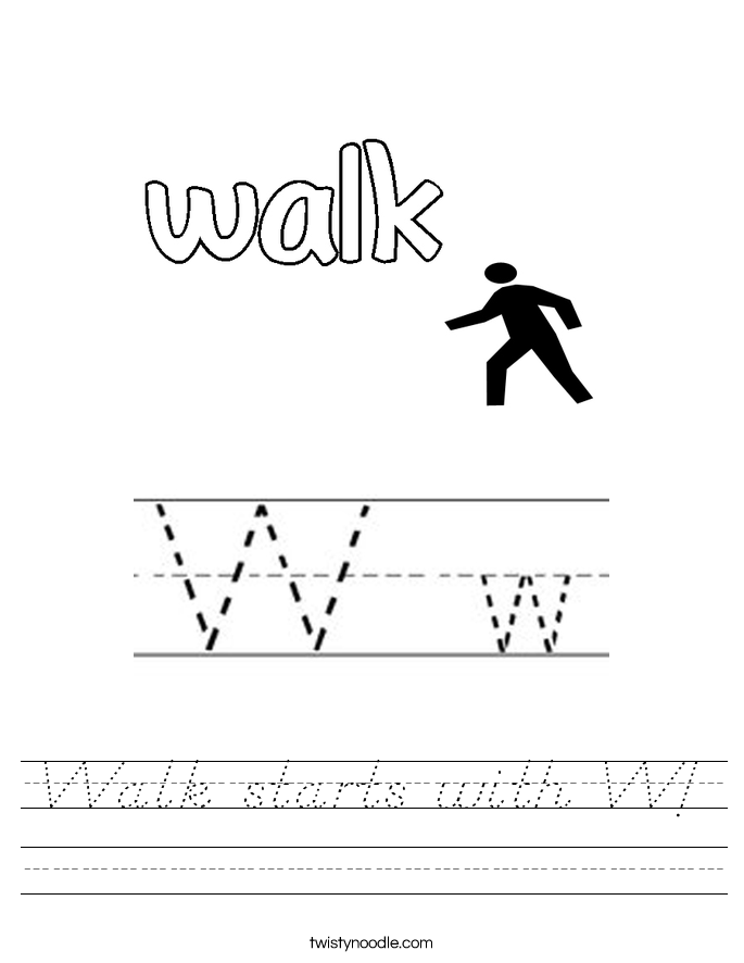 Walk starts with W! Worksheet