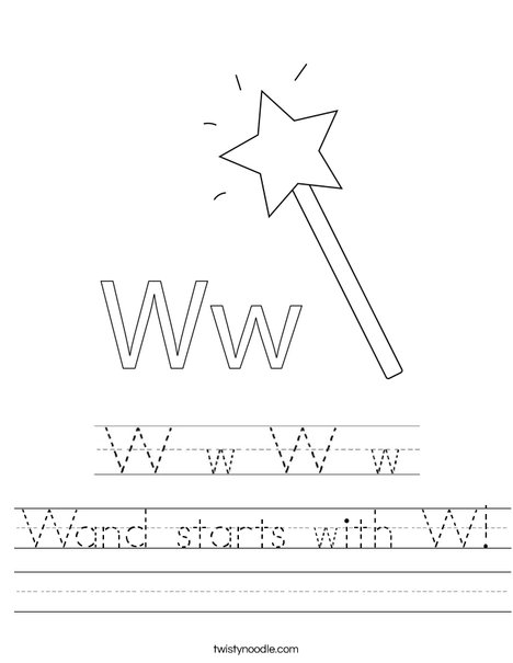 Wand starts with W! Worksheet