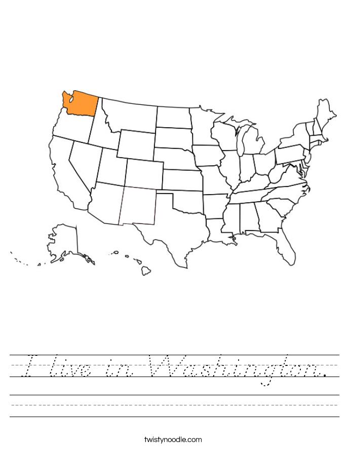 I live in Washington. Worksheet