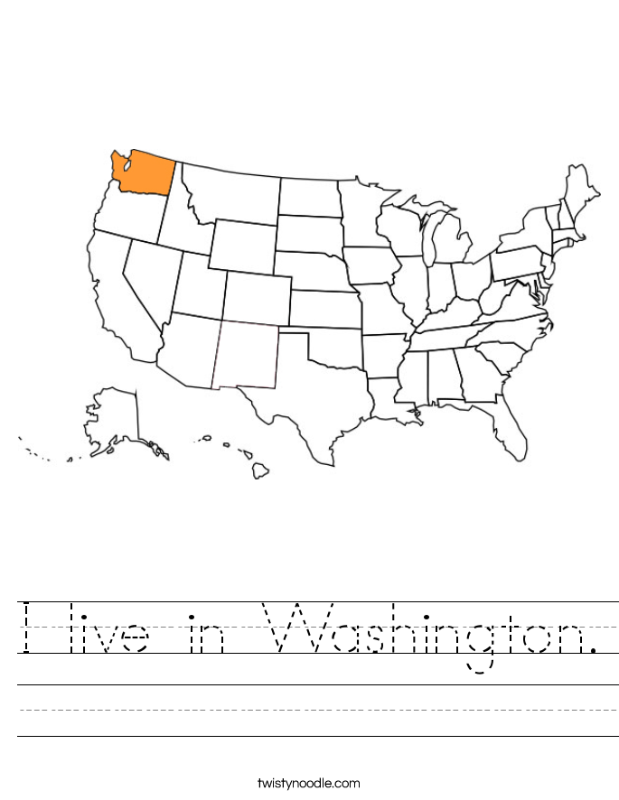 I live in Washington. Worksheet