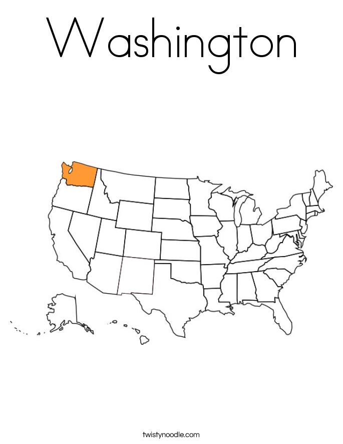 Washington Coloring Page