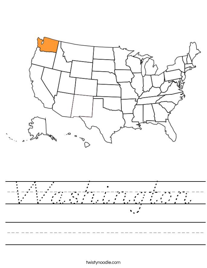 Washington Worksheet
