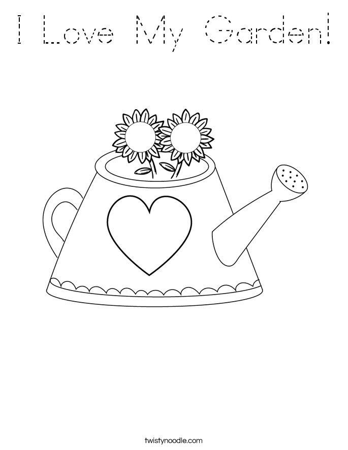 I Love My Garden! Coloring Page