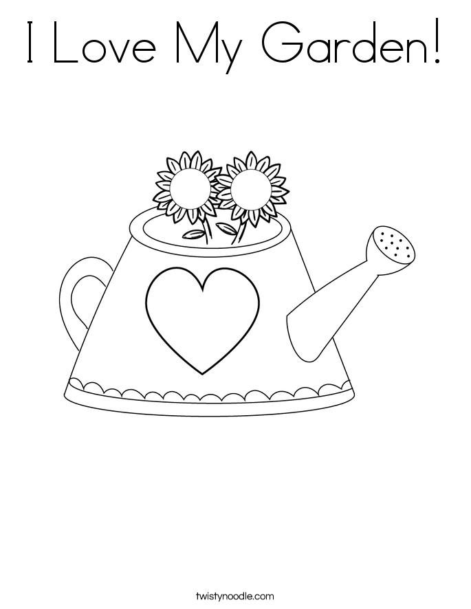 i love my garden coloring page