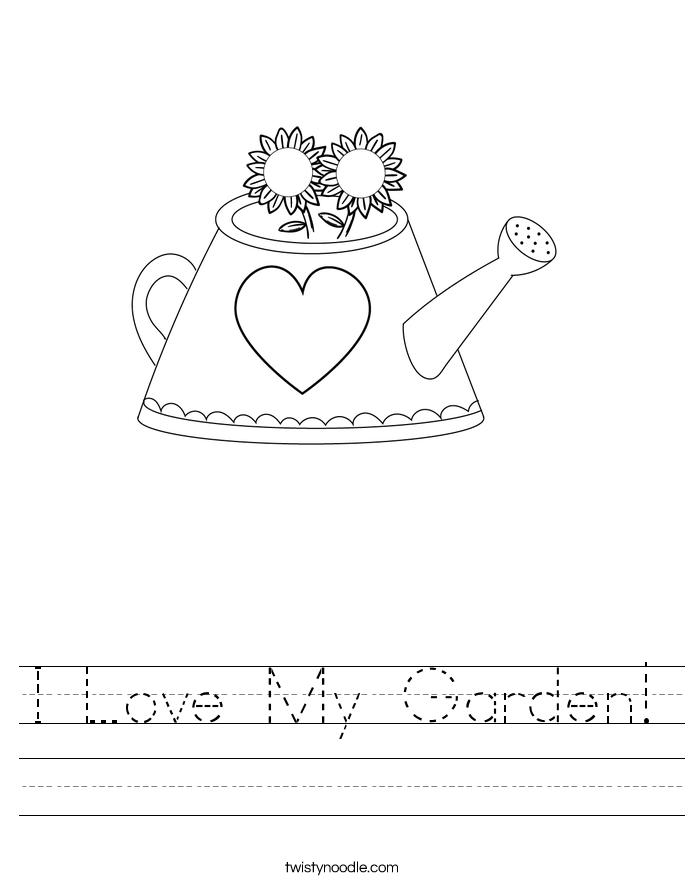 I Love My Garden! Worksheet