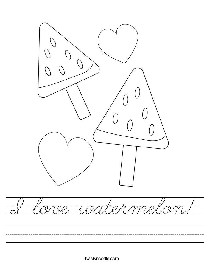 I love watermelon! Worksheet