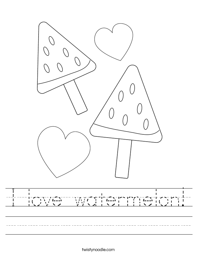 I love watermelon! Worksheet