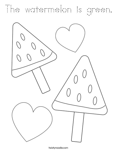 Whole Watermelon Coloring Page