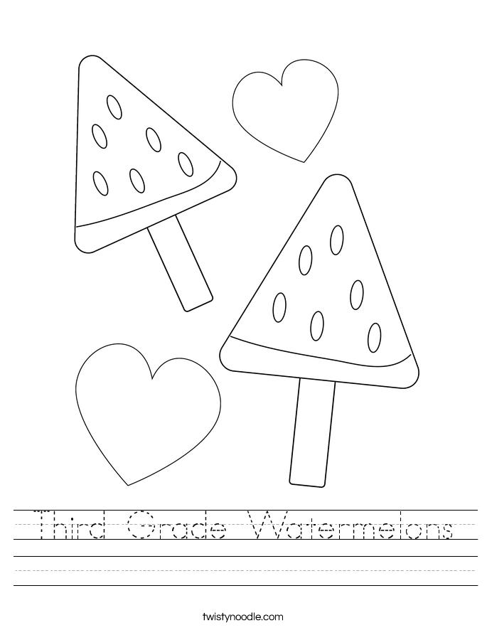 Third Grade Watermelons Worksheet