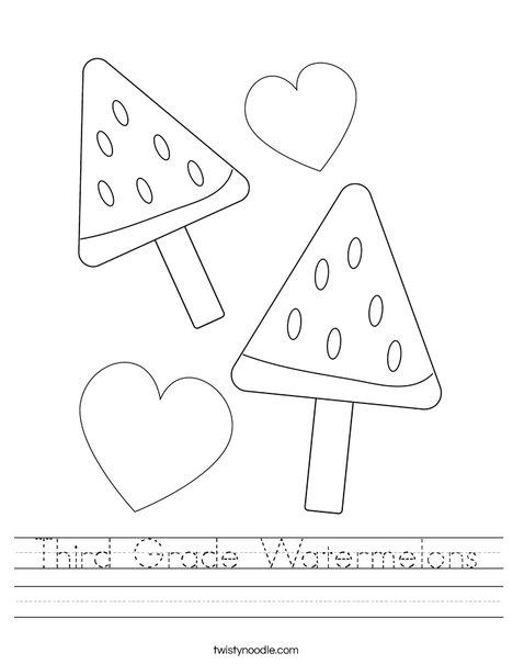 Whole Watermelon Worksheet