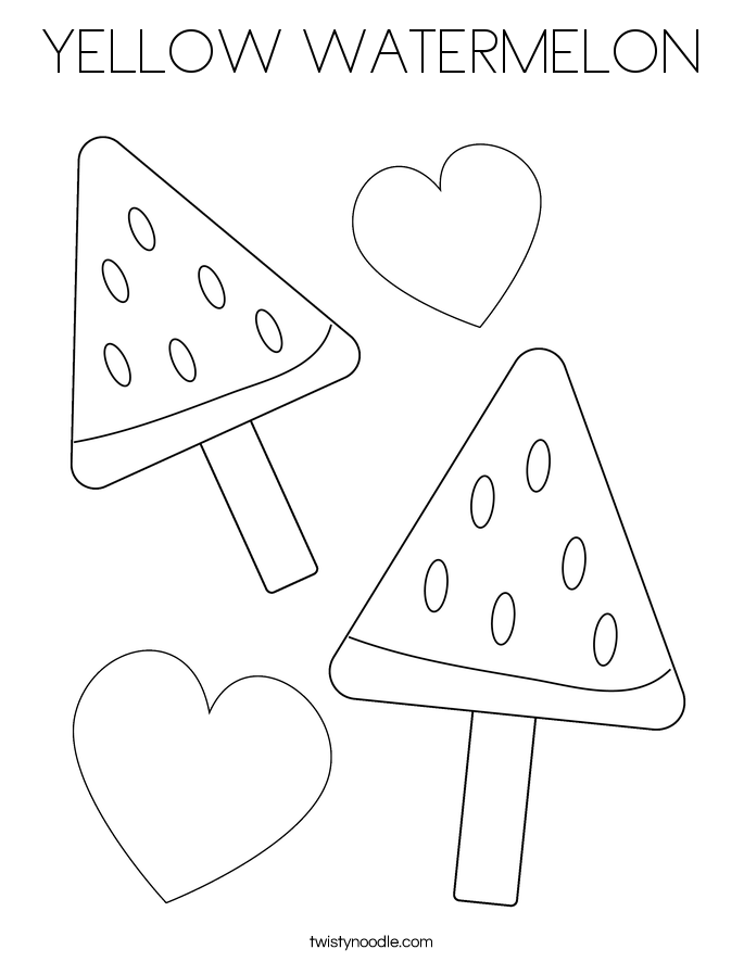 YELLOW WATERMELON Coloring Page