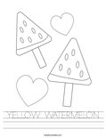 YELLOW WATERMELON Worksheet