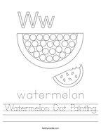 Watermelon Dot Painting Handwriting Sheet