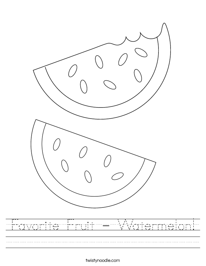 Favorite Fruit - Watermelon! Worksheet