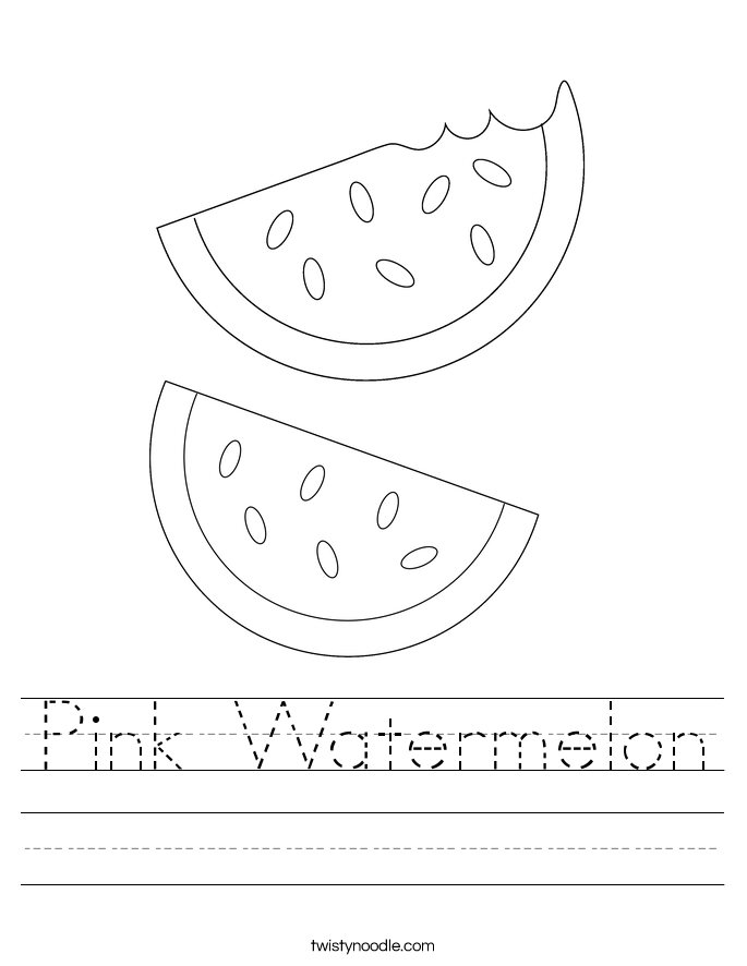 Pink Watermelon Worksheet
