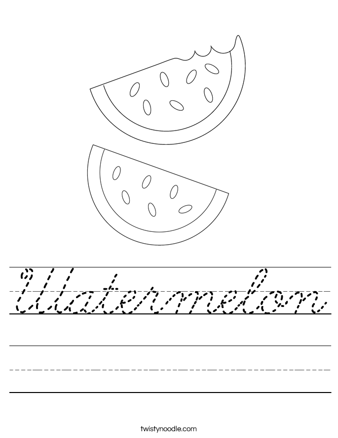Watermelon Worksheet