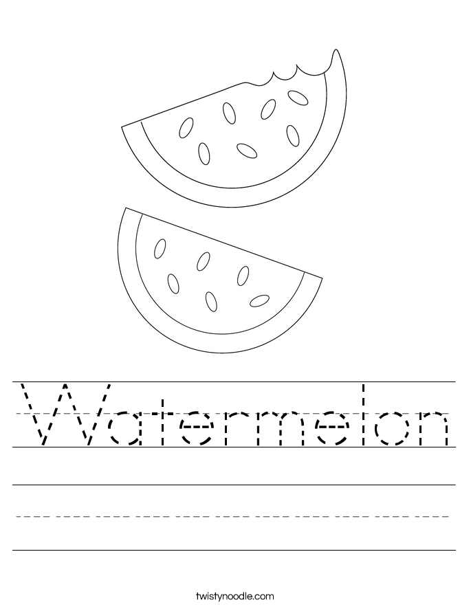 Watermelon Worksheet
