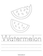 Watermelon Handwriting Sheet