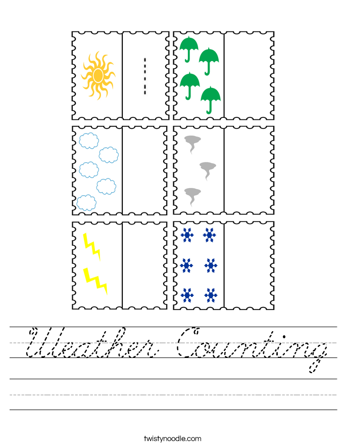 Weather Counting Worksheet