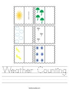 Weather Counting Handwriting Sheet