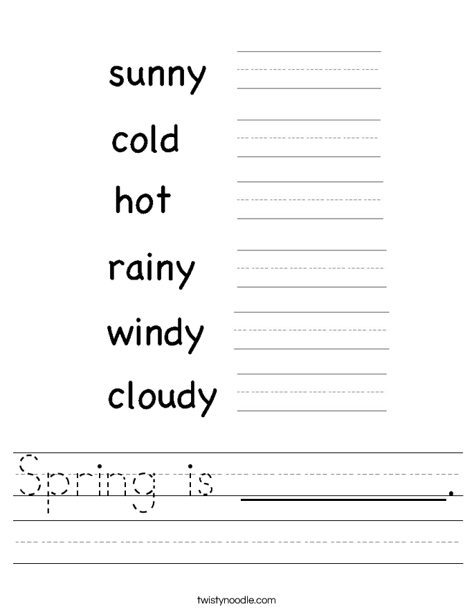 Spring is ________. Worksheet