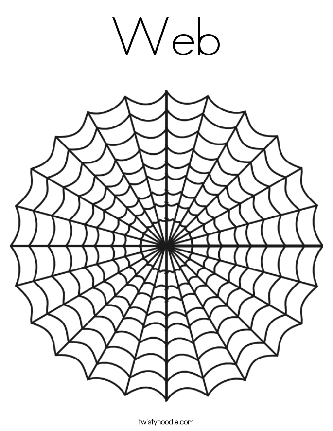 halloween spider web coloring pages - photo#16