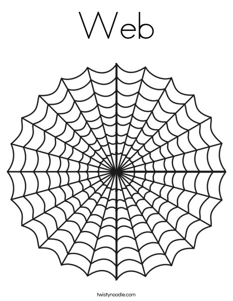 Web Coloring Page - Twisty Noodle