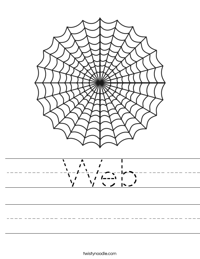 Web Worksheet - Twisty Noodle